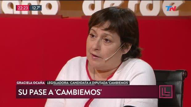 Graciela Ocaña hizo referencia a su pase a Cambiemos