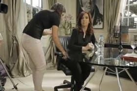 Cristina brindó hoy una entrevista a Canal 7 de media hora