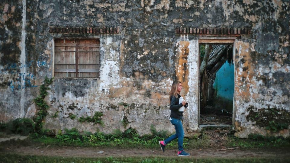 Casa que alguna vez fueron lujosas están destruidas, de a poco el pueblo recuperará su esplendor. Foto: LA NACION / Diego Lima / Enviado especial