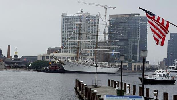 La Fragata Libertad llegó a Baltimore