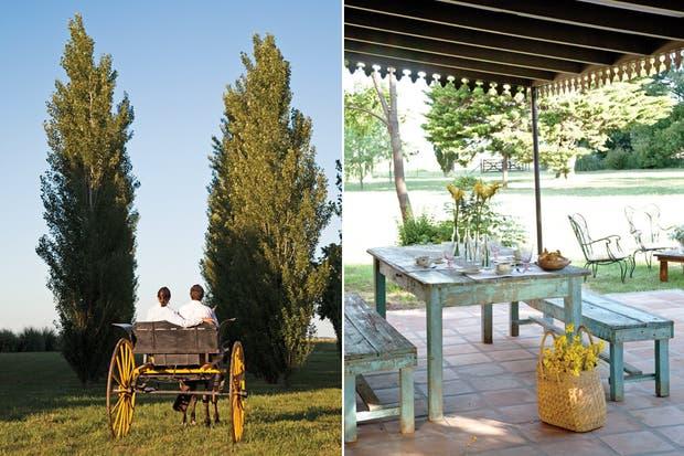 La mesa antigua con bancos (El Galpón) es uno de los curtidos puntos de encuentro..