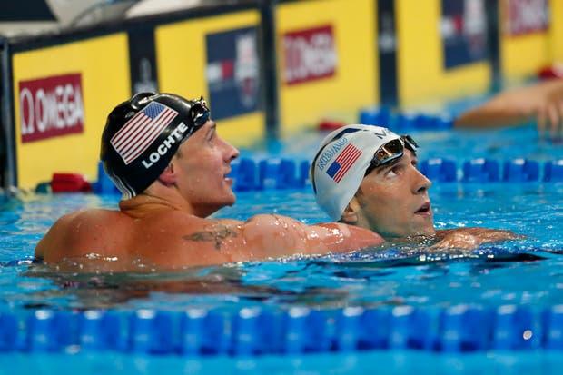 Phelps y Lochte prometen llevar su rivalidad a los Juegos de Río