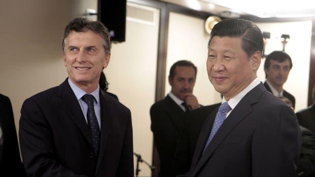 Mauricio Macri y Xi Jinping, en 2014, cuando el actual Presidente era jefe de Gobierno de Buenos Aires
