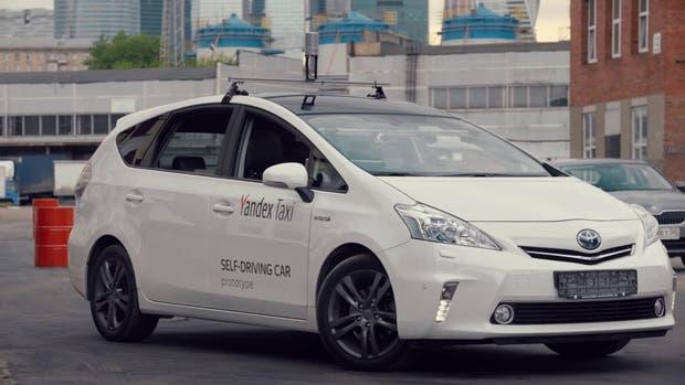 Una vista del taxi autónomo desarrollado por Yandex, la compañía de Internet dominante en Rusia