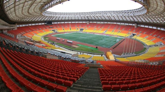 Una vista del estadio Luzhniki de Moscú, donde se jugará la final del Mundial