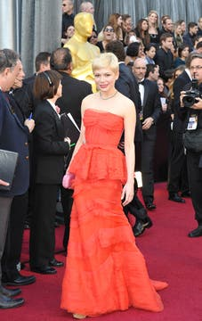 Michelle Williams, nominada a mejor actriz por Mi semana con Marilyn. Foto: AFP