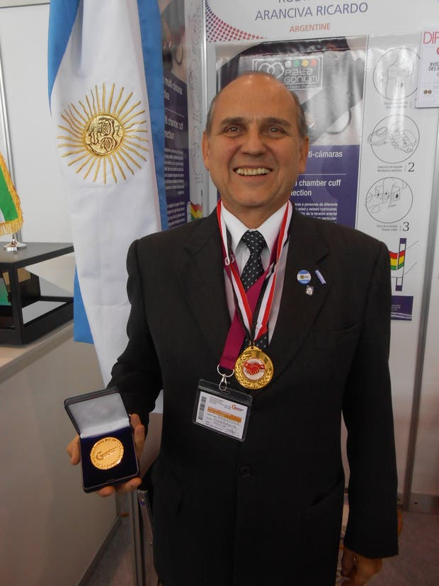 Rodríguez Aranciva y su medalla de oro