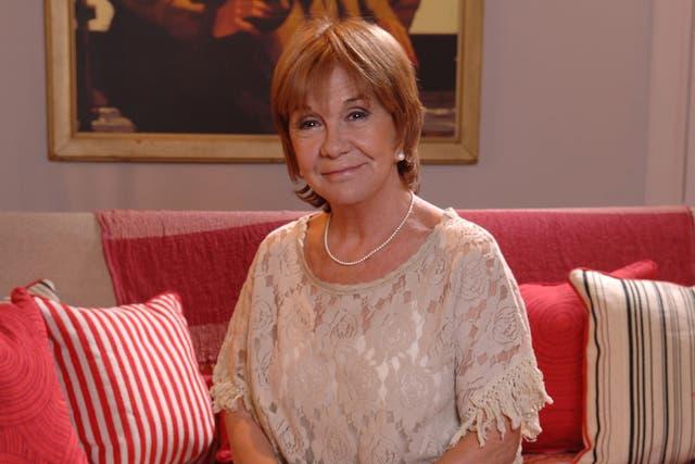 Virginia Lago fue muy criticada como presentadora del ciclo de cine de Telefé