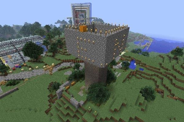 Una construcción hecha en Minecraft