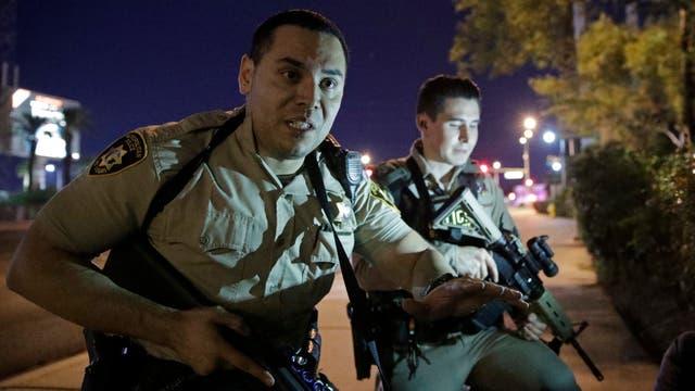 La policia de Las Vegas actuo de inmediato. Foto: AP Photo/John Locher