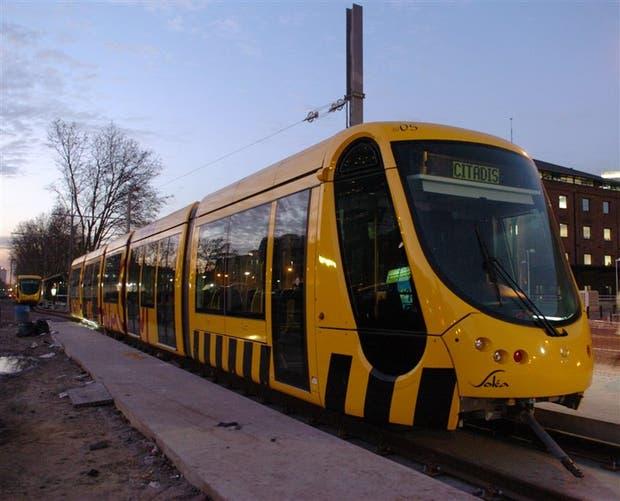 El tranvía funcionó originalmente con dos formaciones
