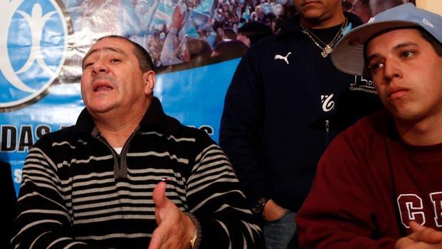 Marcelo Mallo, cuando encabezaba Hinchadas Unidas Argentinas