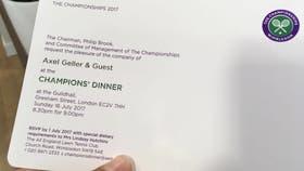 La invitación de Geller a la cena de los campeones