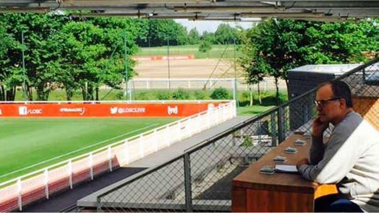 Bielsa vive en el centro de entrenamiento de Lille, en un espacio de sólo 30 metros cuadrados