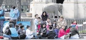 Chicos de 14 escuelas porteñas y del Gran Buenos Aires se reunieron en el zoológico para compartir historias y relatos