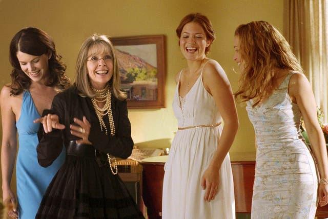 Diane Keaton, junto a sus hijas del film ¡Porque yo lo digo!