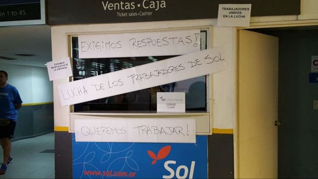 La protesta de los trabajadores de Sol