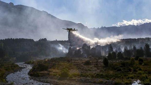 El fuego avanza en Chubut