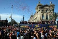 Así fue la celebración de Barcelona, con miles de hinchas en las calles