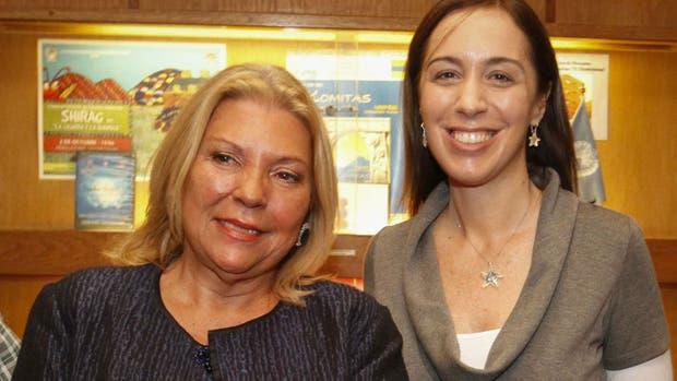 Elisa Carrió y María Eugenia Vidal