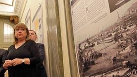 Susana Malcorra inauguró una muestra sobre inmigrantes italianos