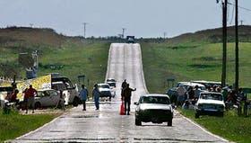 Después de 45 días, los vehículos pudieron circular nuevamente por la ruta 136 rumbo a Fray Bentos