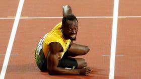 La última carrera de Bolt terminó en lesión