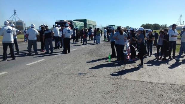 El corte en la ruta 34 por los trabajadores de SanCor