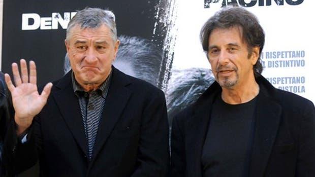 Robert De Niro y Al Pacino, juntos