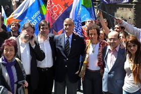 Binner, junto a Morandini y sus referentes legislativos