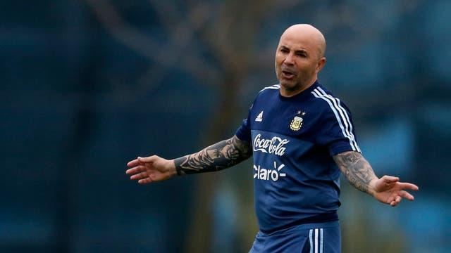 Entrenamiento de la seleccion argentina de futbol
