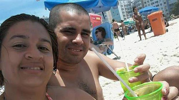 Laura Viana y su esposo