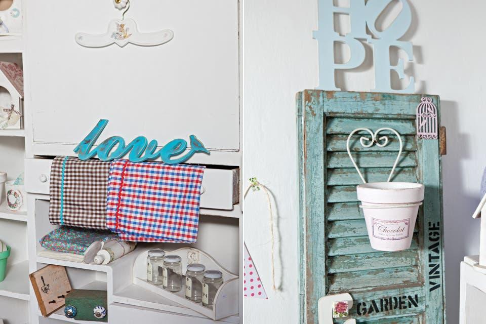 Fotos del showroom de La Florinda, que Gabi armó en una casita de atrás en el patio y que se puede visitar concertando una entrevista previa.  /Javier Picerno