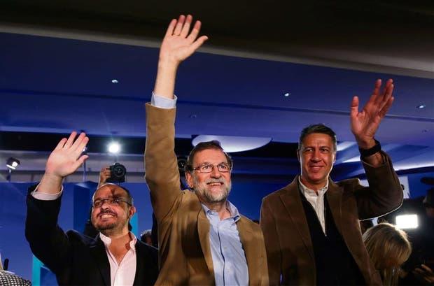 Rajoy, ayer, durante un acto del PP en Barcelona
