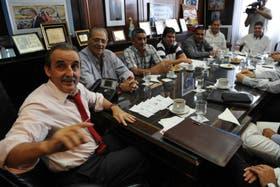 Moreno, en una de sus habituales reuniones con empresarios