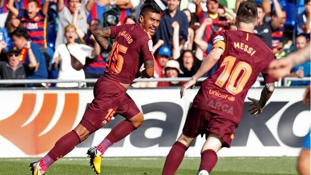 Paulinho hizo festejar al Barcelona sobre la hora