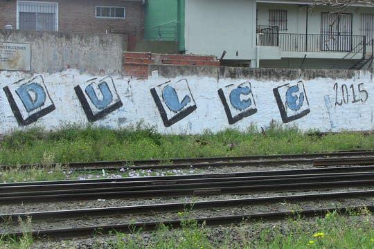 diciembre de 2011. Las pintadas que proclaman a Dulce como candidata para 2015 no tardaron en aparecer. Foto: LA NACION / Natalia Pecoraro