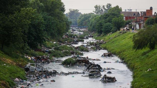 Contaminación en la cuenca del Río Reconquista. Foto: LA NACION / Ricardo Pristupluk