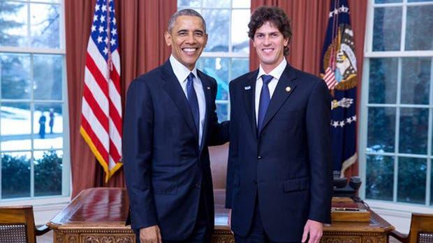 Martín Lousteau con Barack Obama