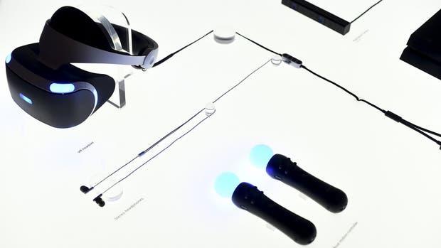 Una vista de los dispositivos y accesorios que conforman el sistema PlayStation VR