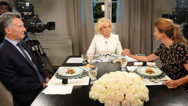 Macri y Awada, durante la cena con Mirtha Legrand