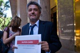 Juan Carlos Vasco Martínez, director ejecutivo de la Asociación de Supermercadistas Argentinos, presentó ayer la tarjeta