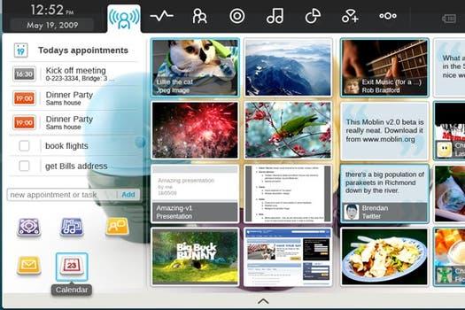Moblin es un sistema para netbooks iniciado por Intel, ahora liderado por Linux Foundation. Foto: Moblin