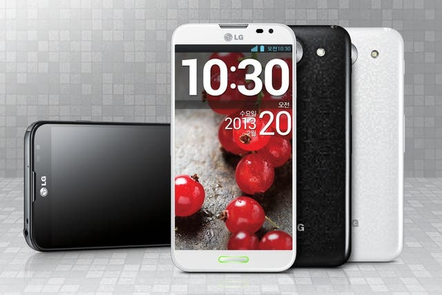 Un LG Optimus G Pro, con pantalla de 5,5 pulgadas