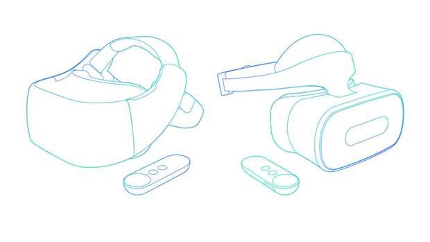 Estos son los dos modelos de visores Daydream de Google con pantalla incorporada que serán fabricados por HTC Vive y Lenovo