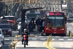 El Metrobús del Sur, recientemente inaugurado