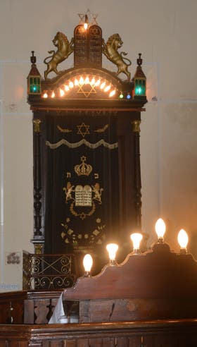 Interior de la sinagoga de Villa Domínguez