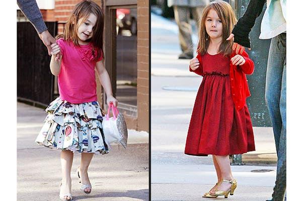 Suri Cruise, la hija de Tom Cruise y Katie Holmes, luciendo sus taquitos