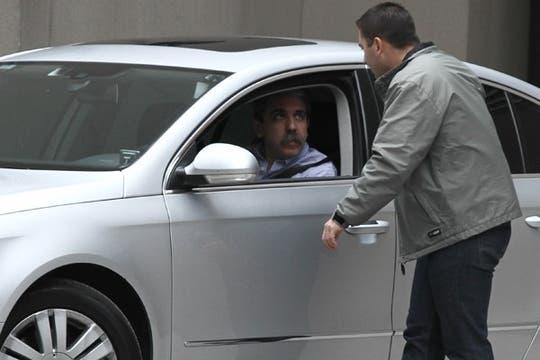 El jefe de Gabinete, Aníbal Fernández, esta mañana. Foto: LA NACION / Emiliano Lasalvia