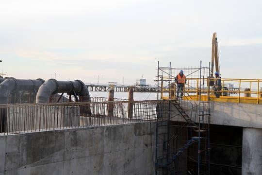 Macri recorrió el canal aliviador del Maldonado , la construcción ya terminó y pronto será inaugurado. Foto: LA NACION / GCBA